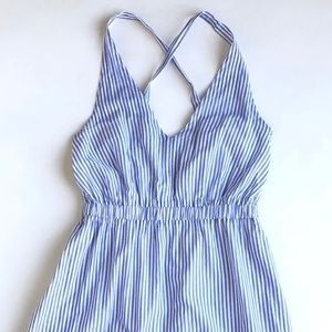 JCrew blue stripe sundress